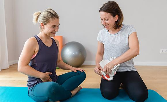 Personal Training für Frauen Beckenboden